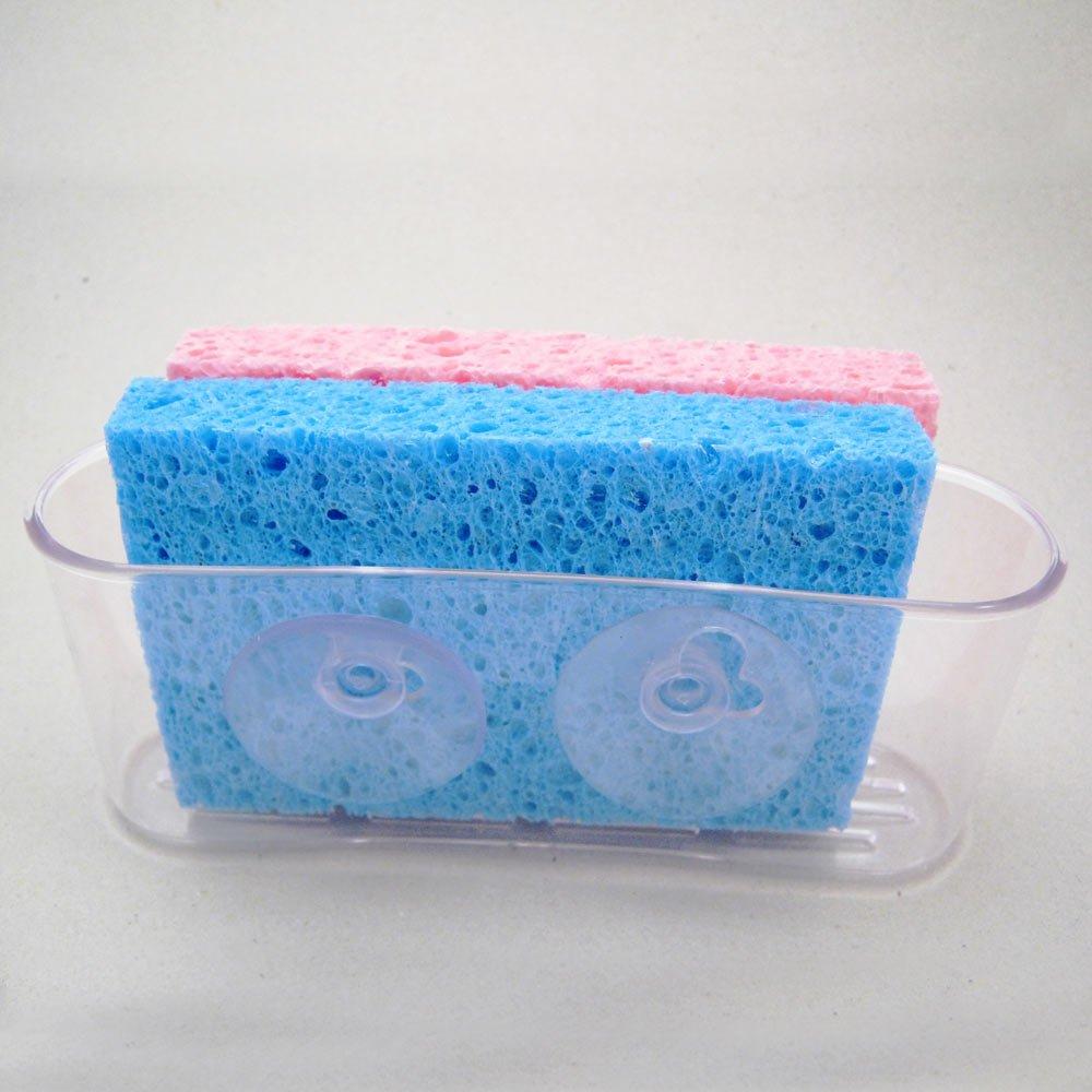 Amazon.com : Kitchen Sink Caddy Organizer Sponge Dish Brush Holder ...