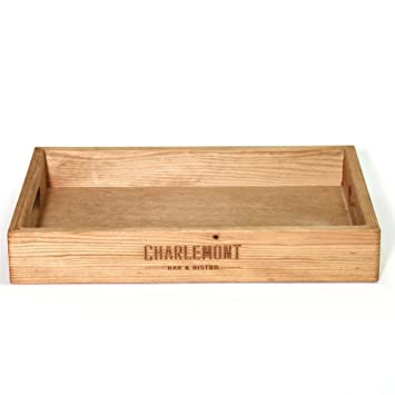 Bandeja de madera grabada - personalizable - personalizable - bandeja de servir - gran regalo: Amazon.es: Hogar