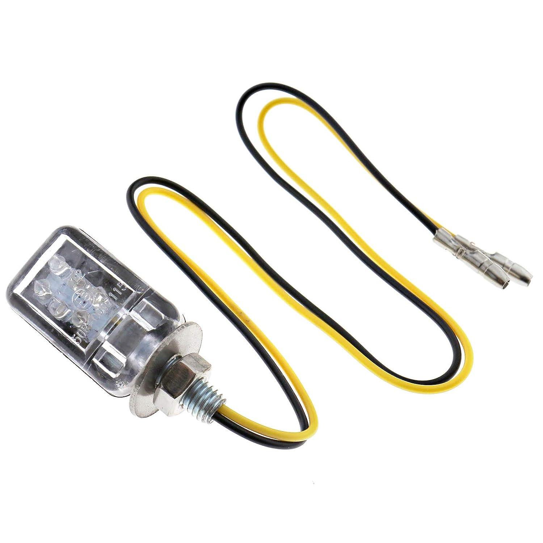 LED Motorrad Mini Blinker Lampe Blinkleuchte MotorBike Mortoradblinker Schwarz E-Kennzeichen