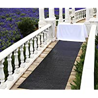 Zdada Aisle Runner, Aisle Runners for Weddings Aisle Runner Outdoor - Black 24 x15ft