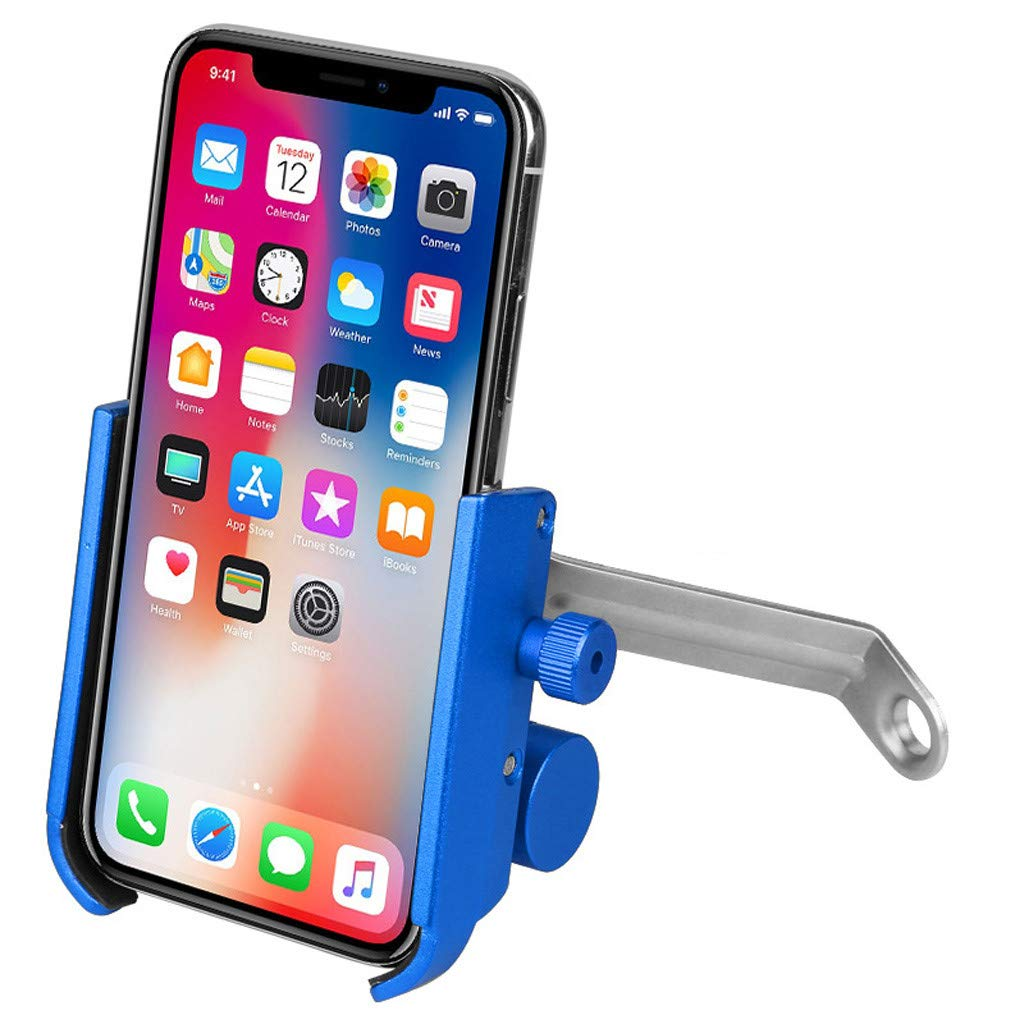 1KTon Bike & Motorcycle Smart Phone Holder Mount USB Charging With 3800mah Power Bank by 1KTon