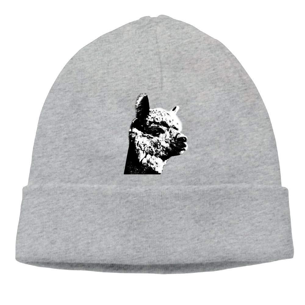 Llama Head Beanies Knit Hats Skull Caps Men