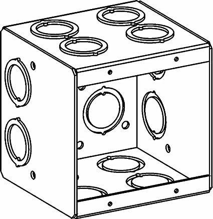 Orbit Mb 2 Electric Box 3 12 Deep Masonry Wcko Knockouts