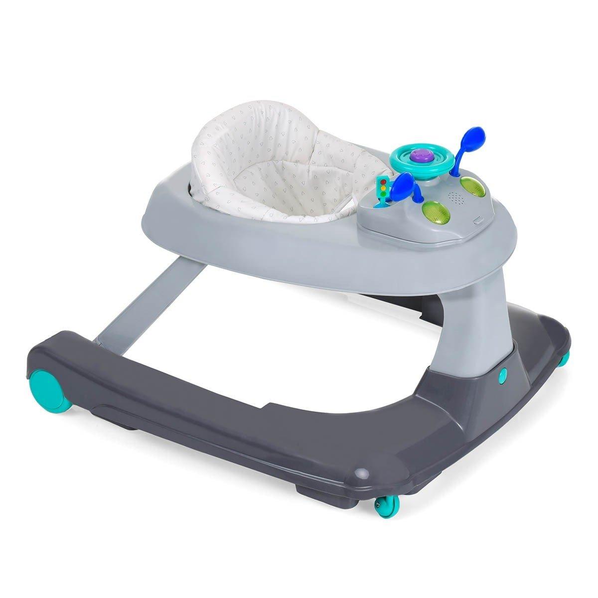 Hauck Ride On 123 Hearts - Andador para bebes 3 en 1, a partir de 6 meses, juego de mesas multifuncional con ruedas, altura ajustable, fácil montaje, diseño colorido H-64305-EN-000-C02