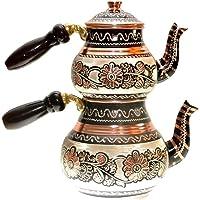 Otantik Osmanlı Özel Elişi Bakır Çaydanlık Kararmaz Hediyelik