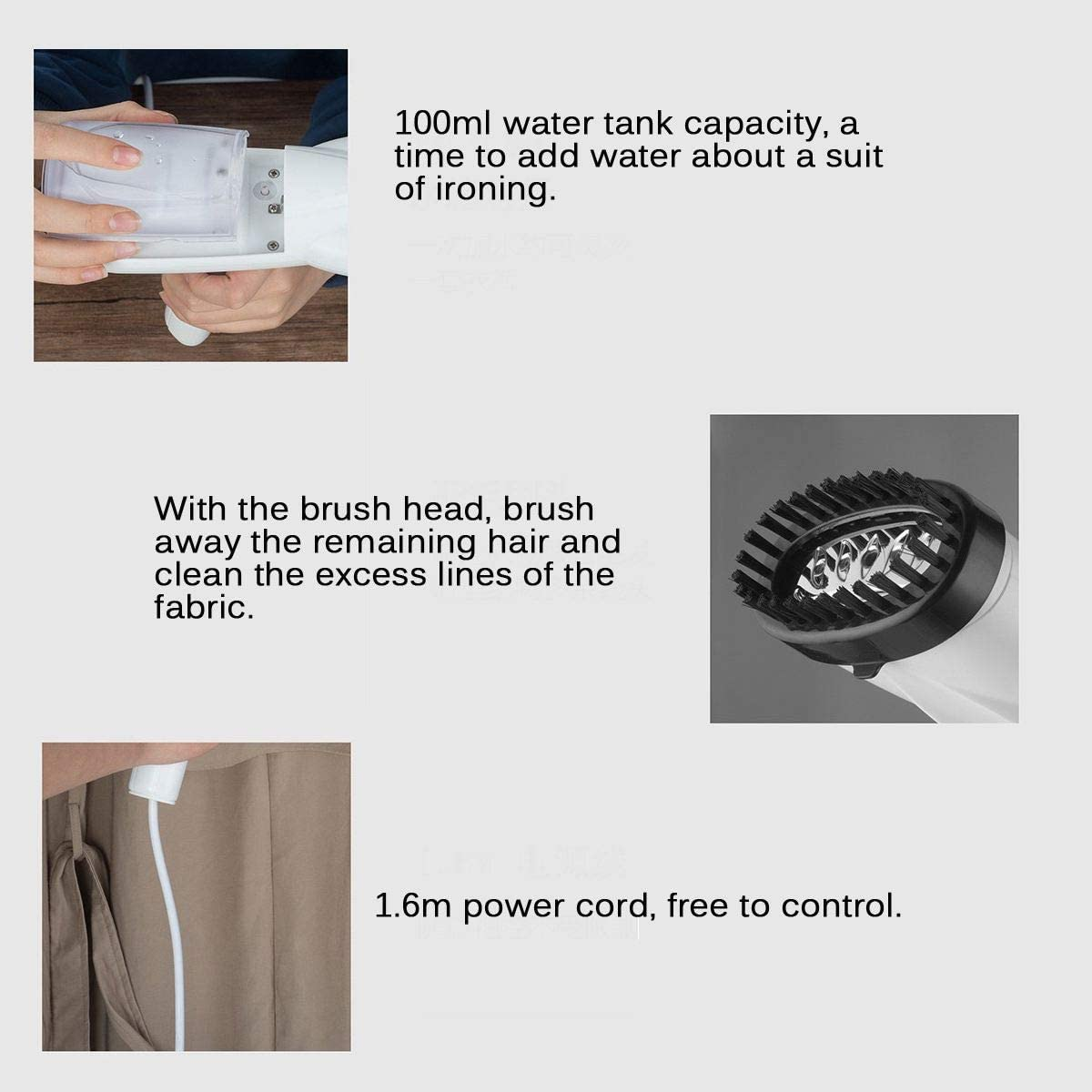 20s Fast Heat-up Auto-Off Suit for Any Fabrics Belita Amy Foldable Garment Steamer for Clothes Portable Handheld Iron Garment Fabric Wrinkle Remover with Detachable Water Tank for Home and Travel