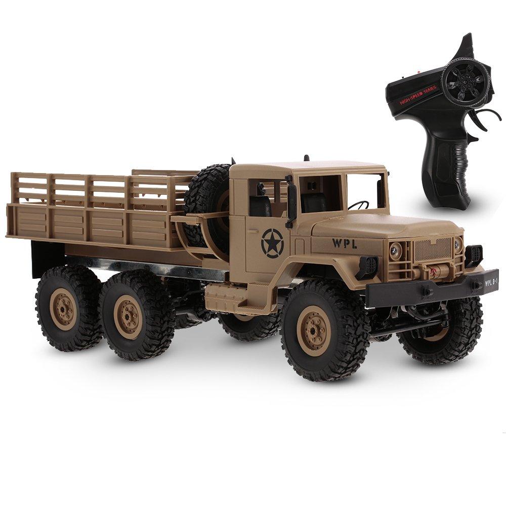 Goolsky WPL B-16 1 16 2.4G 2CH 6WD Camion Militare RC fuoristrada Crawler Army Car Veicolo Elettrico Con Luce RTR Regalo Dei Bambini Giocattolo Per Bambini