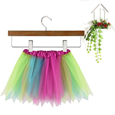 7a78ba9ed5 Girls Kids Baby Dance Fluffy Rainbow Sequins Tutu Skirt Pettiskirt Ballet  Dress Up Fancy Costume - Fits 3-8 Years Old Children (Blue): Amazon.co.uk:  ...