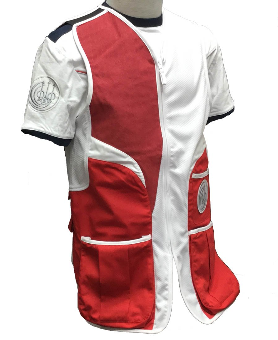 Beretta BEGT112T11300321XL Men's Competition Shooting Vest, Red, X-Large