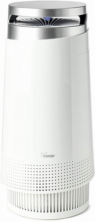 Bimar Purificador de aire inteligente con Wi-Fi y aplicación,filtro HEPA con 3 capas, ionizador, portátil, elimina el polvo, las alergias, el humo, los ácaros, las bacterias para hogar [Blanco]: Amazon.es: Hogar