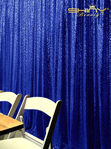 Royal Blue Sequin (ShinyBeauty 5FTx9FT Royal Blue Sequin Backdrop)