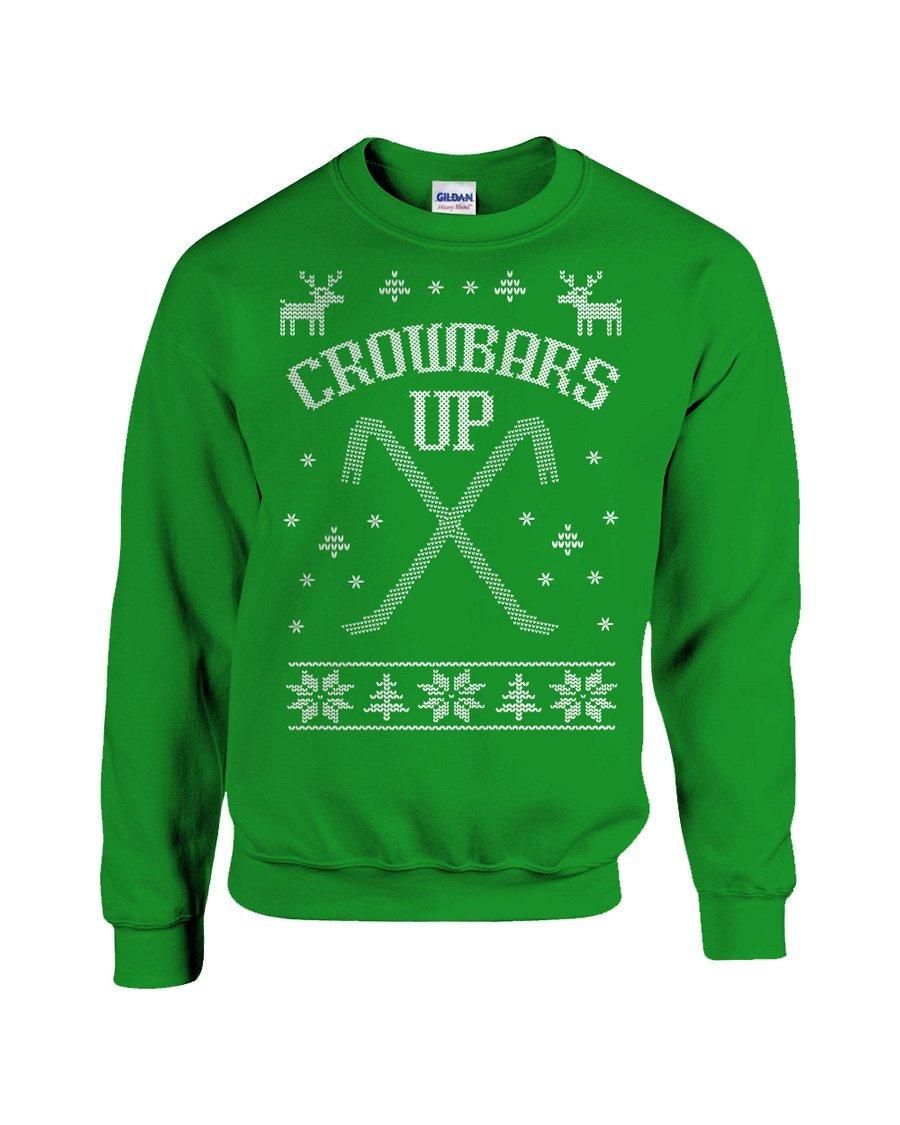 Amazoncom Home Alone Ugly Christmas Sweater Crowbars Up Wet