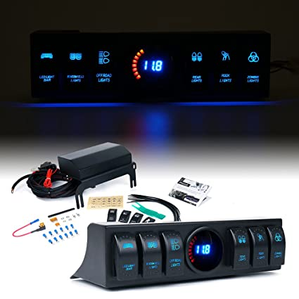 Amazoncom Xprite Jeep Wrangler JK 6Switch Panel with Control and
