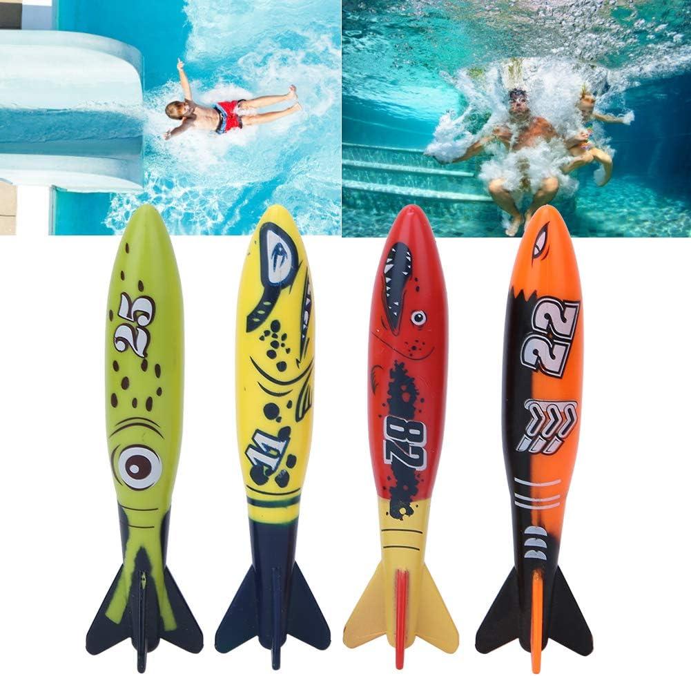 Alomejor Tauchspielzeug Kinder Unterwasser Tauchspielzeug Badespielzeug Raketenform Wasserspielzeug
