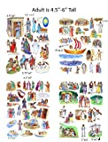 Story & Life of Jesus 13 Bible Stories Felt Figures for Flannel Board- Precut & Ready to Use!
