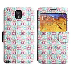 LEOCASE patrón de la caja Funda Carcasa Cuero Tapa Case Para Samsung Galaxy Note 3 N9000 No.1004977