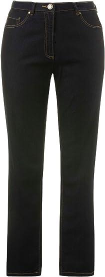 Ulla Popken Regular Fit damskie jeansy ze stretchem, proste: Odzież