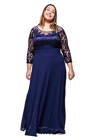 Boutique,Magique Robe de soirée Grande Taille Longue Femme Robe Mariage Femme  Ronde