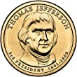2007 D Jefferson Presidential Dollar Choice Uncirculated