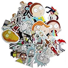 Drama Rick And Morty Laptop Stickers Decal For Snowboard Laptop Luggage Car Fridge DIY Styling Vinyl Home Decor (35pc)