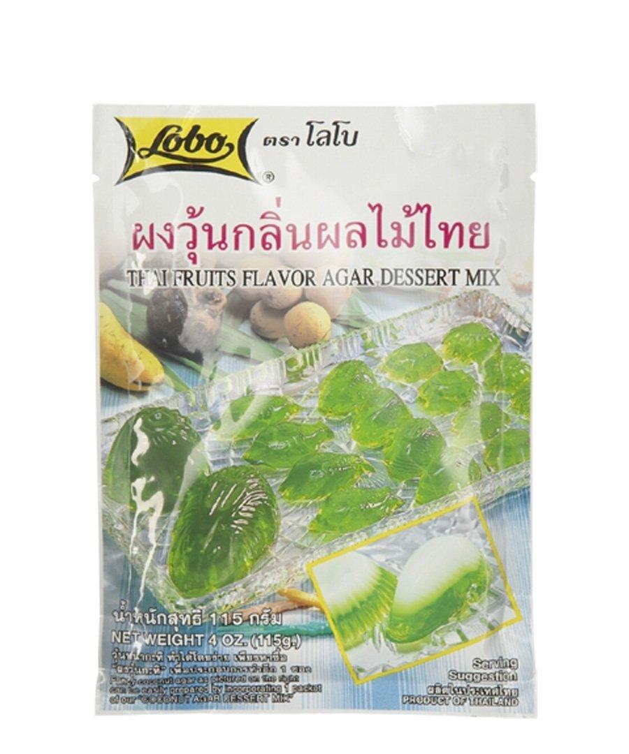 Lobo ,Agar Jelly Powder Dessert Mix Thai Fruits Flavor - 4 Ounces (Pack of 6)