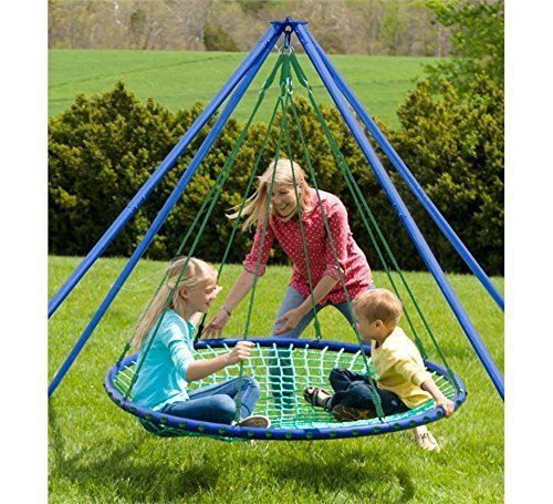 HearthSong® Sky Island Hanging, Spinning Platform with Stand and Teepee Accessories