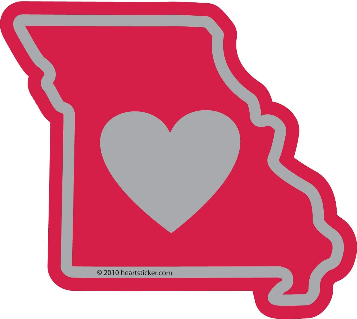 Heart in Missouri Sticker   MO State Shaped Label   Apply to Mug Phone Laptop Water Bottle Decal Cooler Bumper   St Louis Chief KC Royal Blue Cardinal Show Me Gateway Arch Independence Springfield