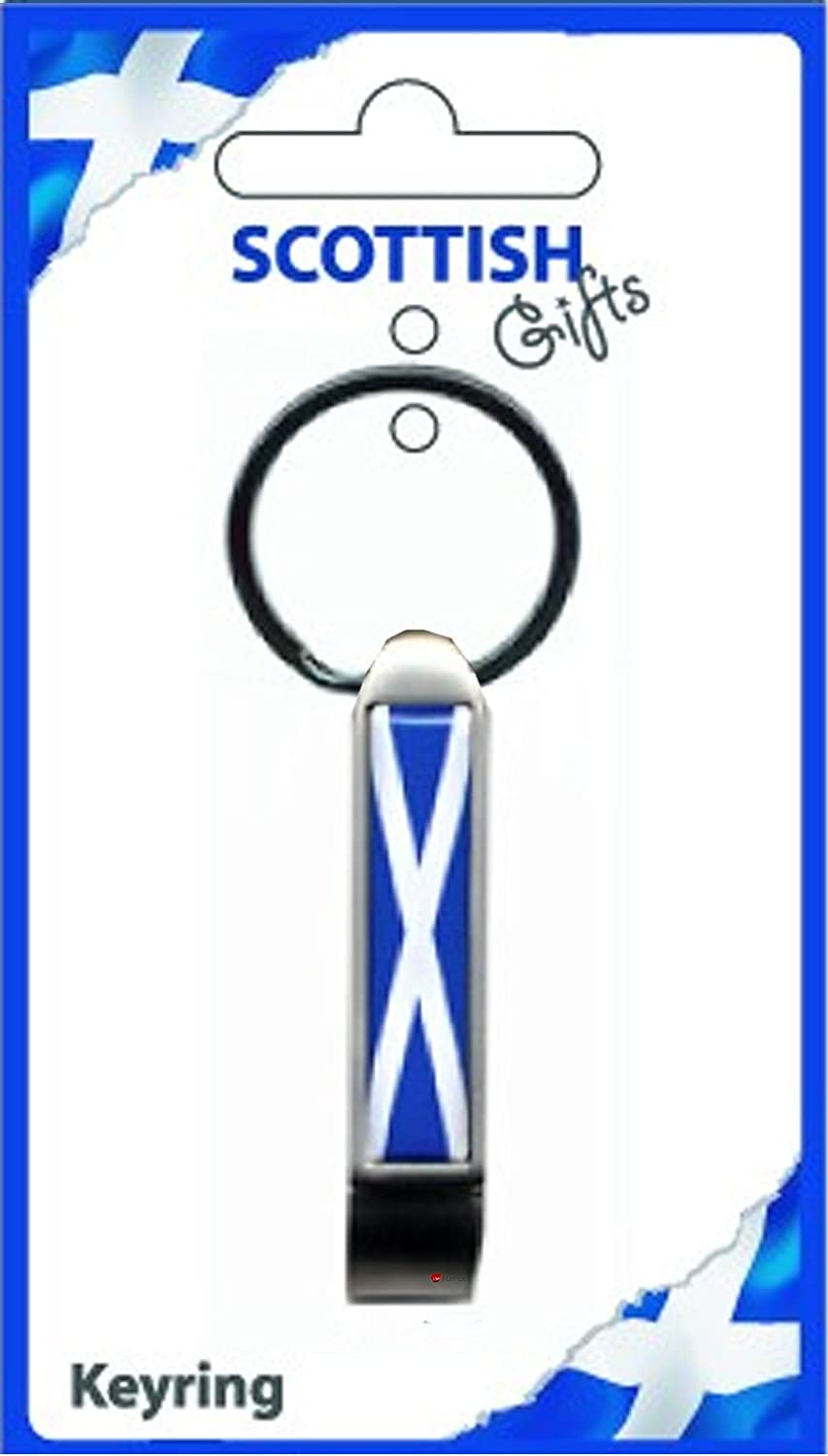 【楽天スーパーセール】 Scotland Blue Bottle Saltire B007OBK8SC Opener Keyring Scottish Saltire Blue B007OBK8SC, ナトリシ:365ad644 --- yelica.com
