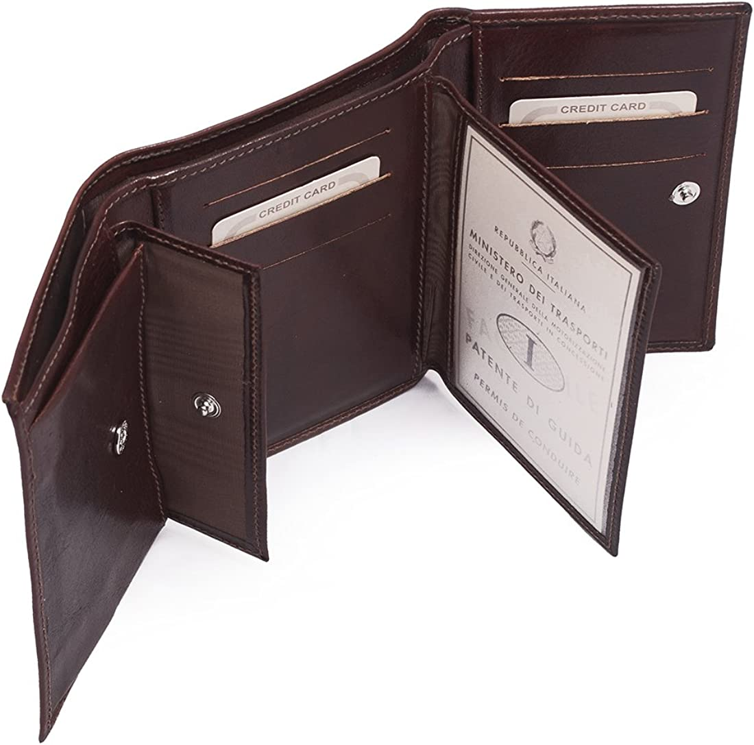 Woman Wallet in Leather 3.5X8.5 H19 cm MICHELANGELO Genuine Leather Calf-Skin Italy