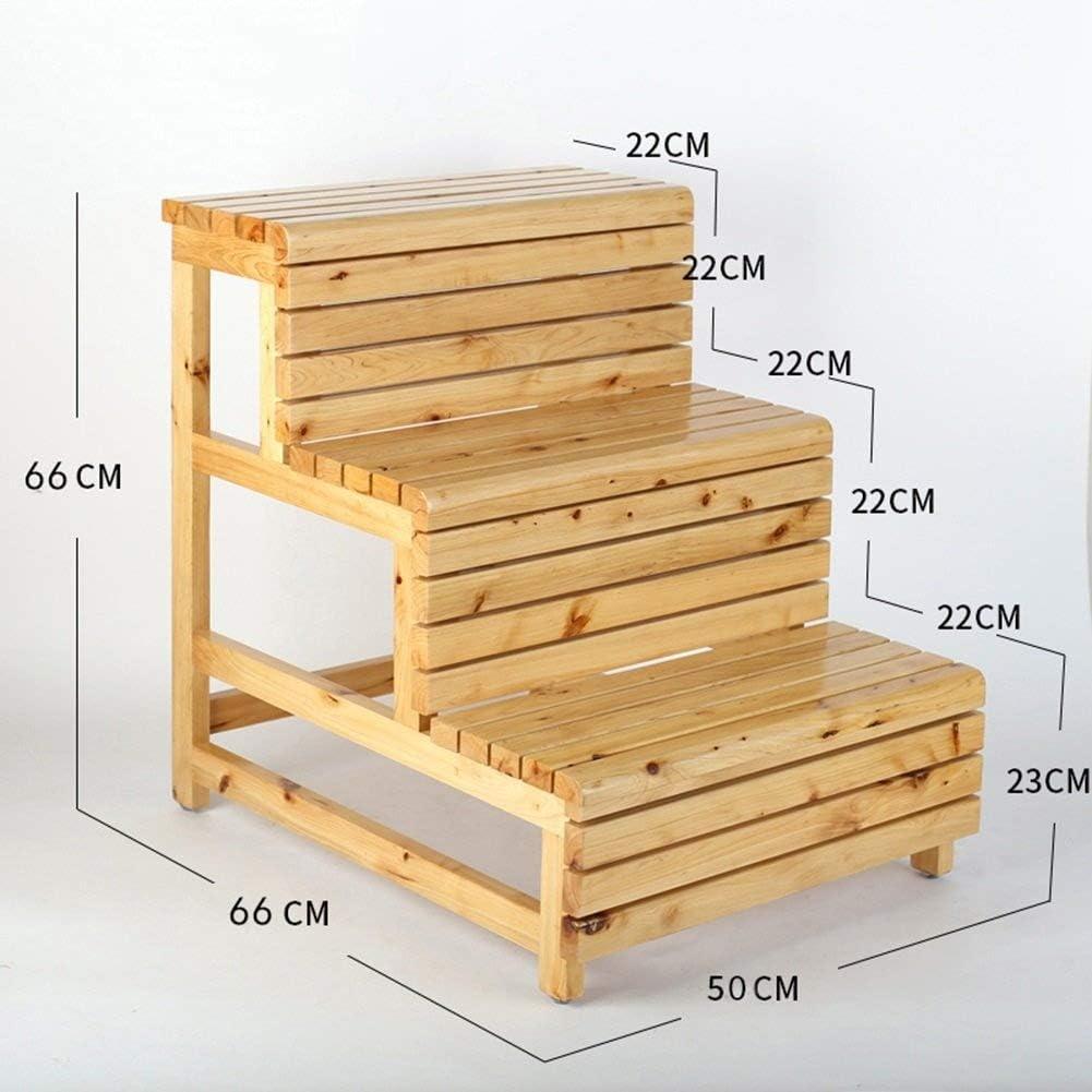 XNLIFE - Escalera de Madera Maciza con 3 escalones, multifunción, para Uso en Interiores, Escalera Antideslizante para balcón, baño, Cocina o Bar: Amazon.es: Hogar