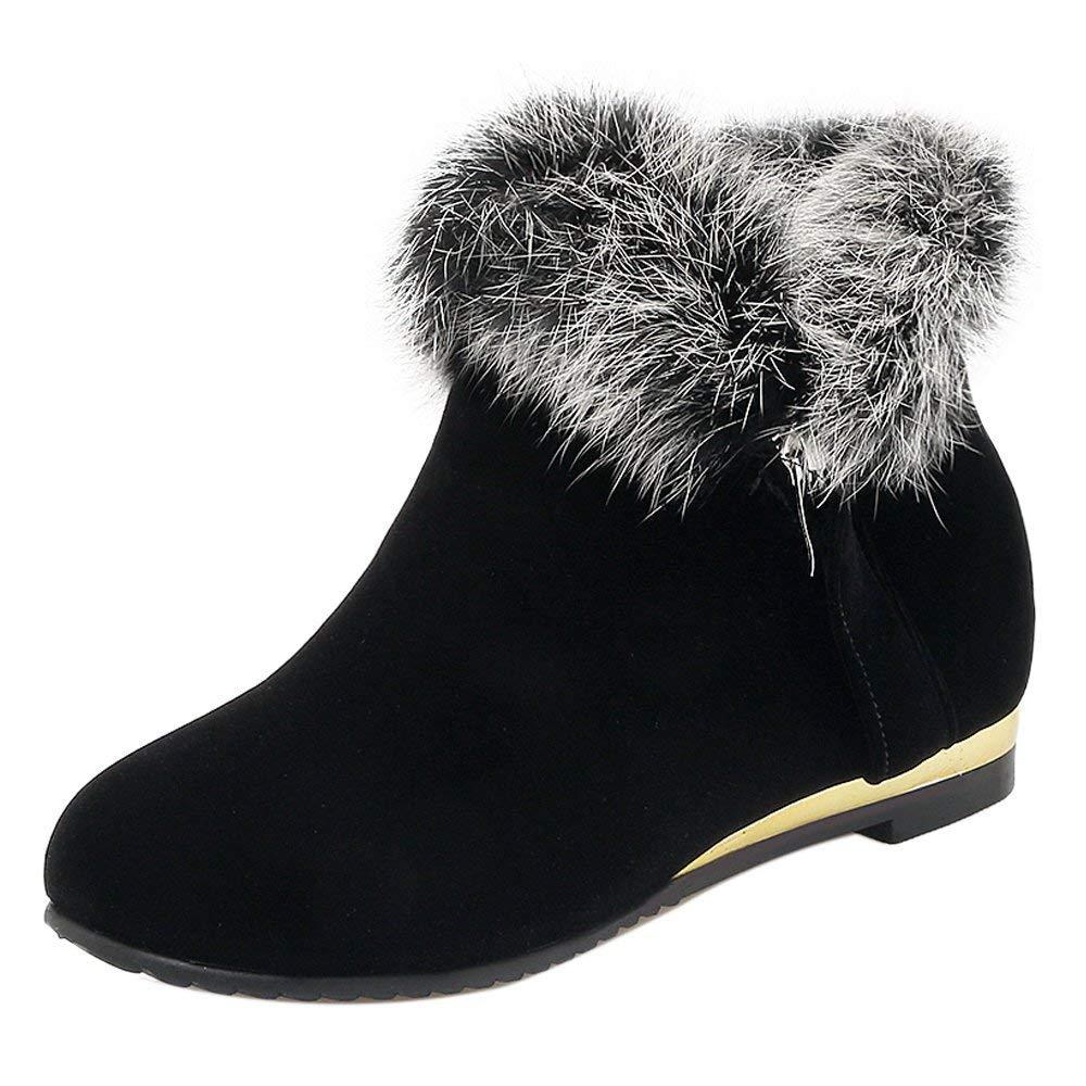 Damen Komfort - Versteckter Absatzkragen - Ankle Stiefel Zip