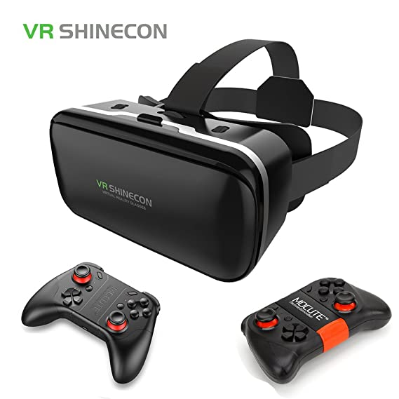 d8d2f99ae8b Amazon.com  2017 Original VR Shinecon 6.0 3D Virtual Reality Glasses Google  Cardboard VR Box Helmet For 4.7-6.0 inch Smartphone With Gamepad  Cell  Phones   ...