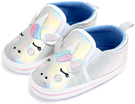 Unicorn Newborn Baby Girl Cute Crib Shoes Toddler Non-slip Soft Sole Prewalker