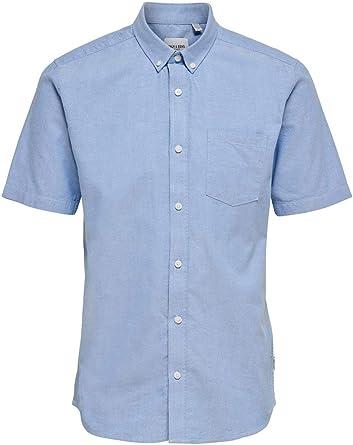 Only & Sons Onsalvaro SS Oxford Shirt Noos Camisa Casual para Hombre