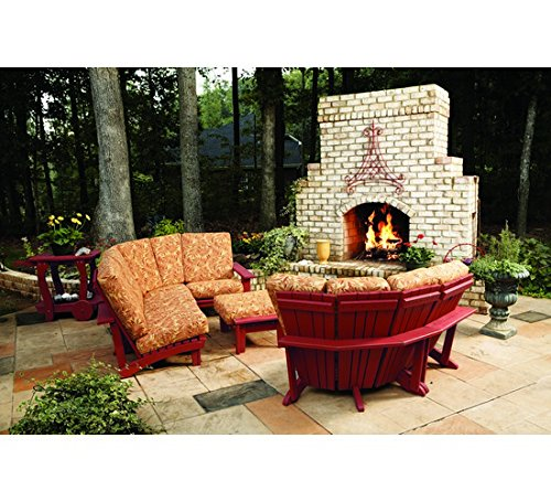 Uwharrie Chair Co 9015-39-New England Red-Dist-Pine Chat Sectional Arm Unit,