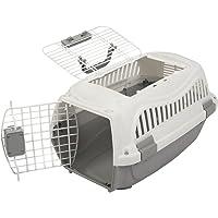 Favorite Transportin con dos puertas para mascotas, capazo de coche para perros medianos, muy resistente, 55.5 x 35.5 x 33 cm
