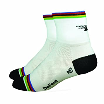 DeFeet International - Defeet aireator worldchamp - calcetines de ciclismo, talla l, color blanco