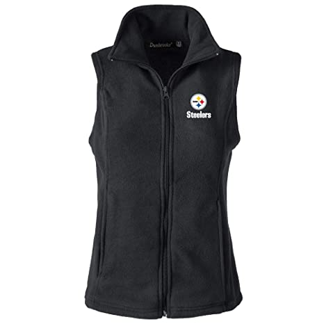 lowest price 7070e 8f98e NFL Pittsburgh Steelers Womens Houston Ladies Fleece Vest, Black, Large