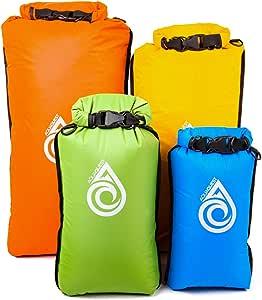 Aqua Quest Coastal Sunset Dry Bag Set - 100% Waterproof Dry Bags Lightweight Combo with 5L, 10L, 20L, 30L Sacks