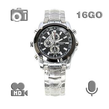 Reloj espía, cámara oculta de 16 GB HD 8MP 1280 X 960 30 fps Cámara espía impermeable Reloj espía Reloj cámara oculta: Amazon.es: Bricolaje y herramientas