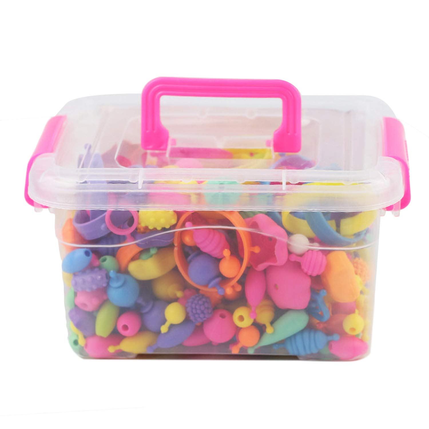 Kids Snap Beads Set Creative DIY Jewelry Making Kit for Girls Necklace and Bracelet Art Crafts Gifts Toys 500 Pcs xin-2018-02 SG/_B073TV1QC1/_US