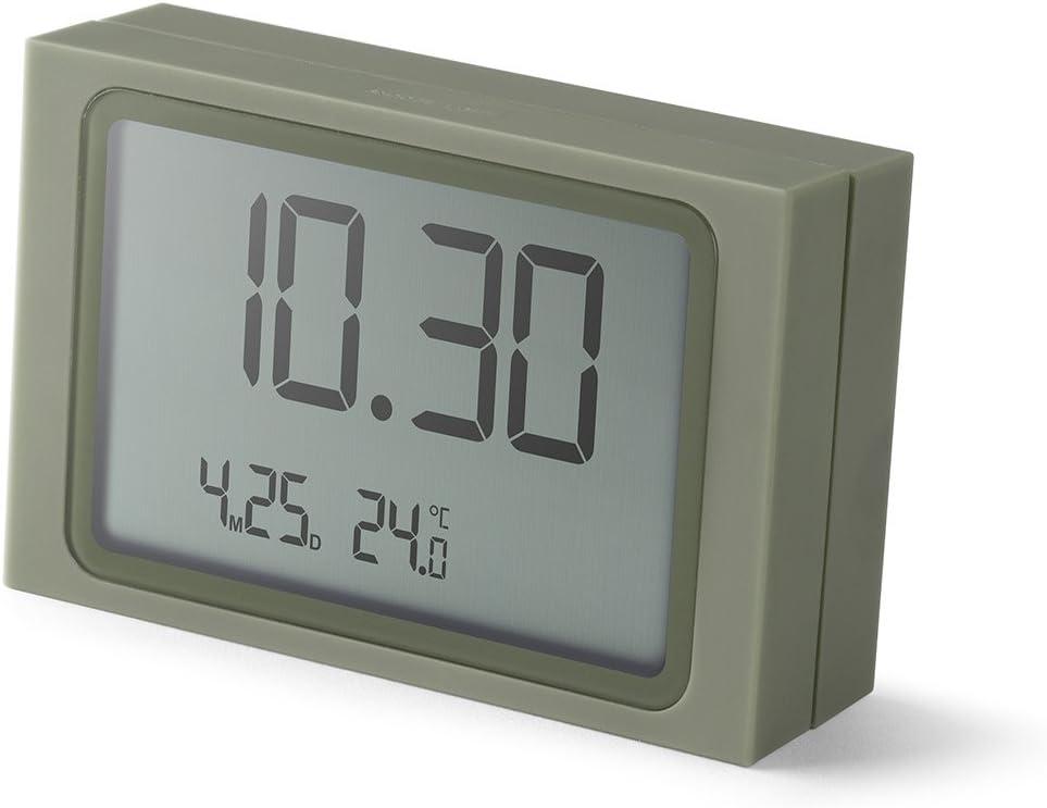 8,5 x 2,2 x 5,5 cm Plastica Beige Lexon Slide Clock Sveglia plastica//ABS Gomma 8,5/x 2,2/x 5,5/cm