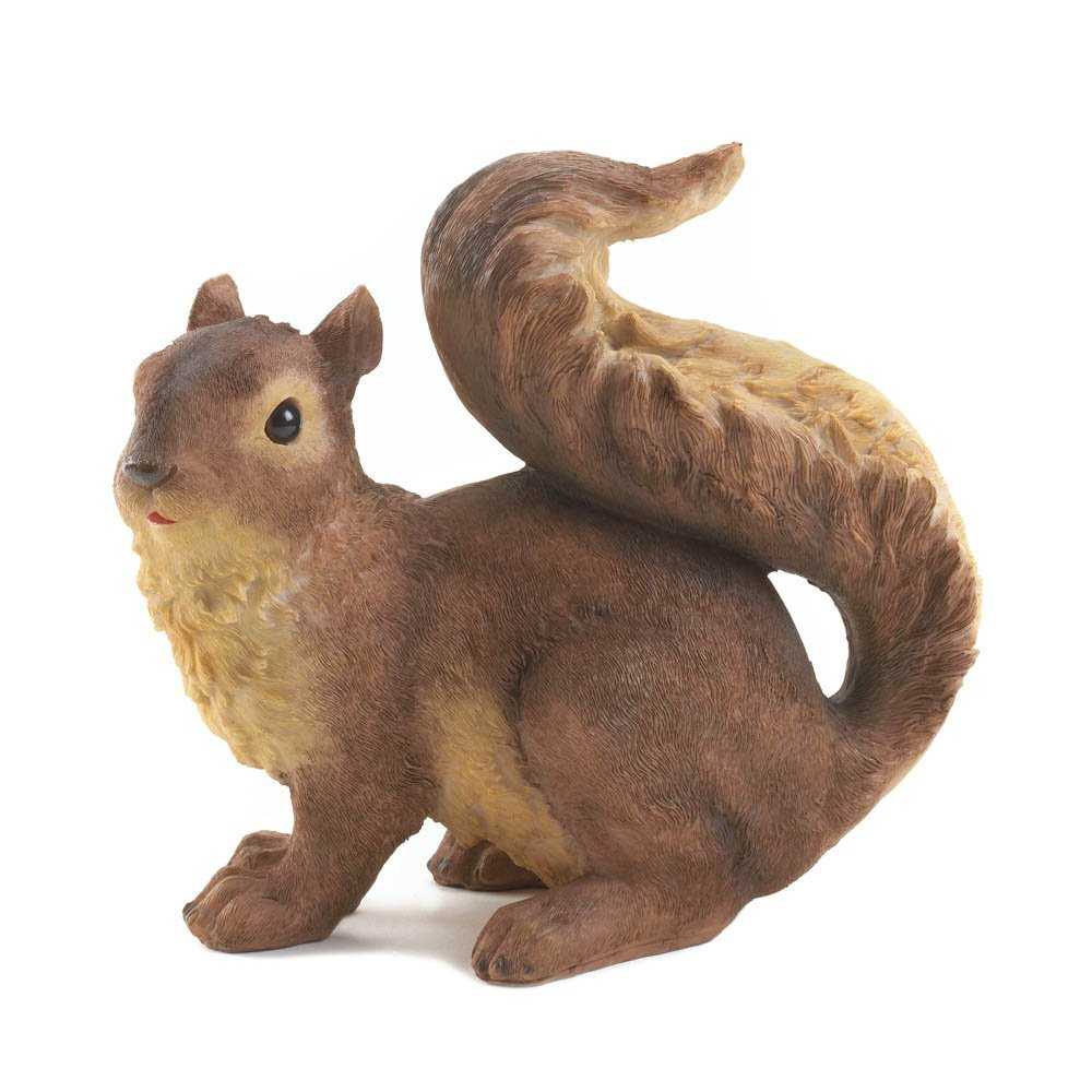 VERDUGO GIFT 10016955 57072027 Spring Squirrel Garden Statue, Brown