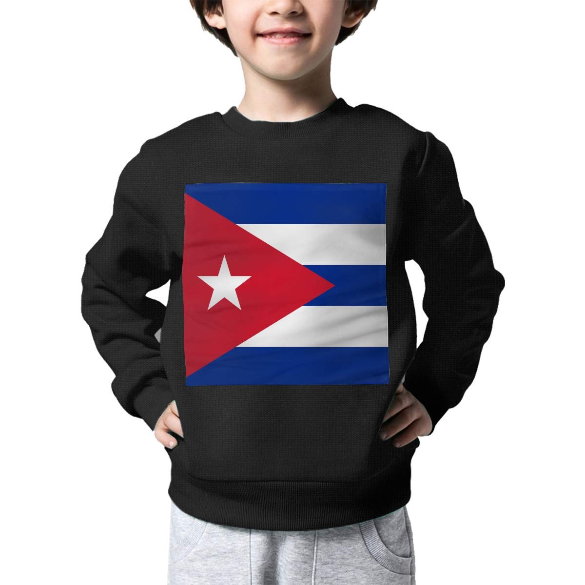 Cuba Flag Printed Toddler Childrens Crew Neck Sweater Long Sleeve Cute Knit Jumper Top