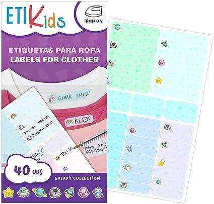 ETIKIDS TERMO FUNNY: GALAXIA - 40 Etiquetas para ropa ...