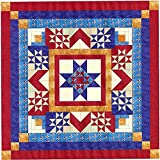 Easy Quilt Kit Sparkling Patriotic Medallion/Queen