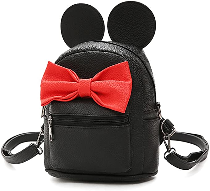 Sunwel Fashion Cartoon Ears Cute Bow Travel School Small Backpack Shoulder Bag for Girls Women