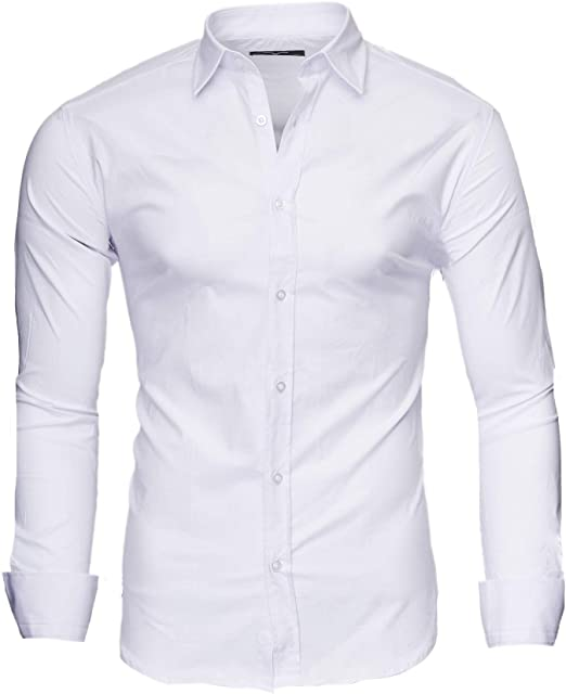 Kayhan Hombre Camisa Manga Larga Slim Fit S-6XL - Modello Twoface ...