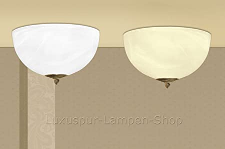 Moderne Lampen 61 : Luxus pur ug brass & alabaster glass ceiling light with italian
