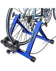 """Relaxdays Fietstrainer incl. schakeling met 6 versnellingen voor 26-28"""", tot 120 kg belastbaar, hometrainer fiets voor indoor fietsen thuis, staal"""